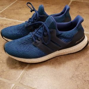Adidas Ultra Boost Blue Shoes Size 10